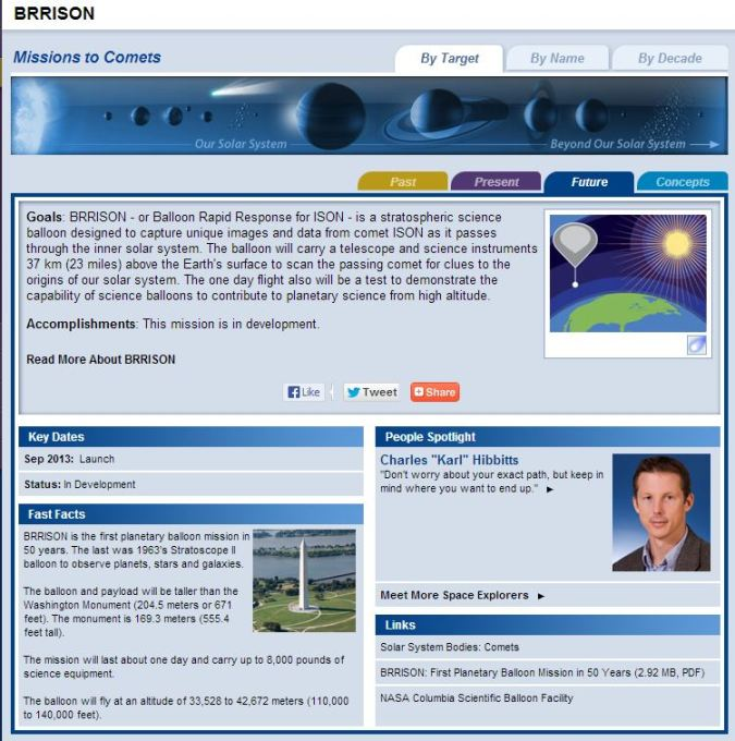 Click to access NASA BRRISON page.