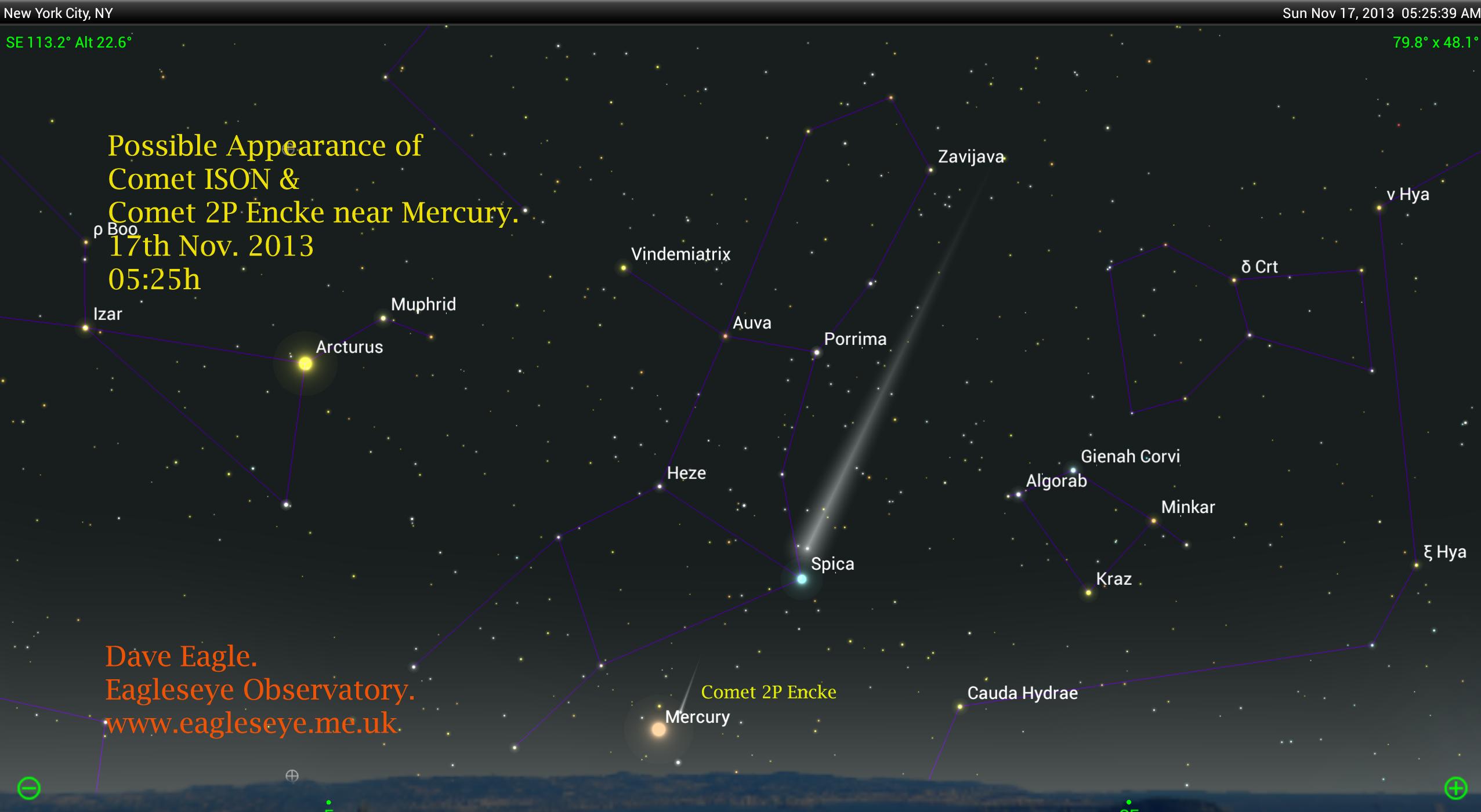 Comet ISON, C/2012 S1 & 2P/Encke Will Perihelion A Week ...