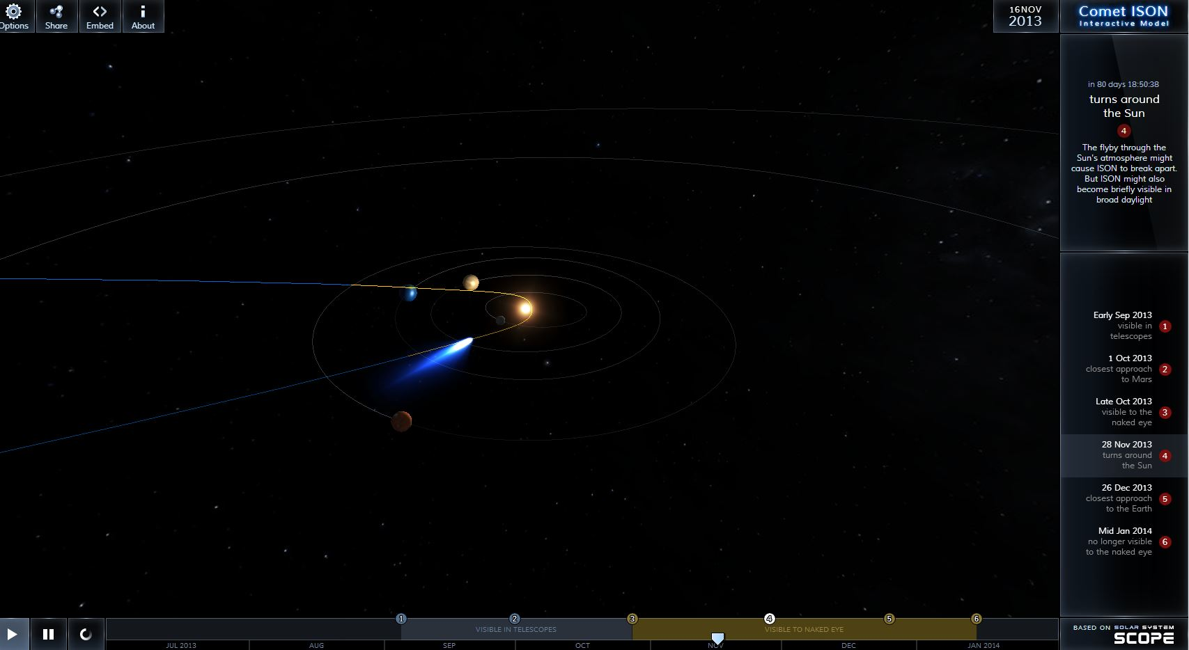 Very Cool, Very Accurate Interactive Comet ISON Space ...