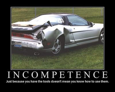 Incompetence=car
